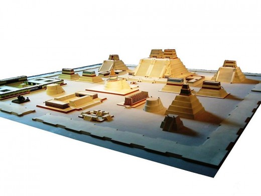 Model of Temple District, Tenochtitlan