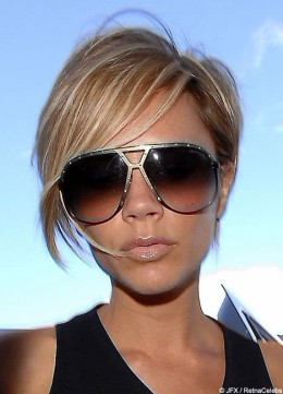 A short sassy bob looks great with blonde hair.