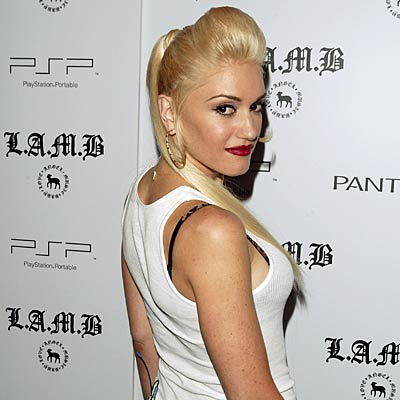 Gwen Stefani with Punk hairstyle