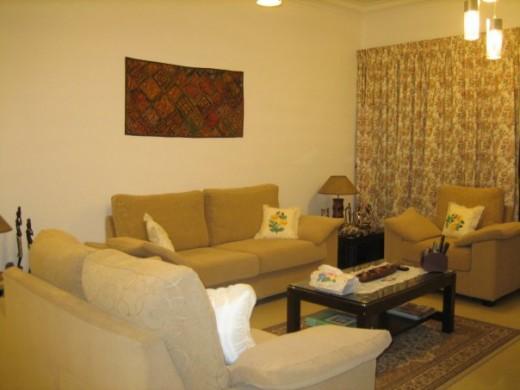 Home in high taste... Shahida Sarwat's home in Malaysia.