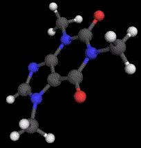 3D Caffeine Molecul