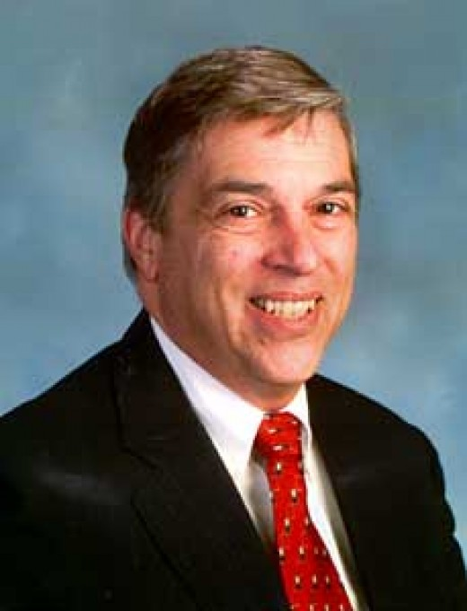 "Photo of KGB agent Robert Hanssen who started working for the FBI and then defected to the KGB while pretending to work for the FBI. A depiction of this photo takes place in the film ""Breach""."
