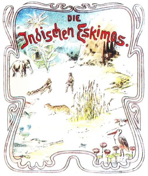 Die indischen Eskimos. Titelbild des Heftromans.