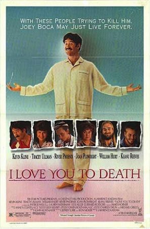 VHS cover for I Love You to Death
