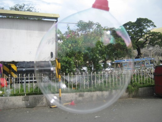 Baclaran scene in a bubble