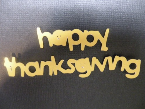 Happy Thanksgiving intricate cutout