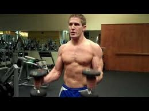 Hammer dumbbell curls emphasize the brachialis.