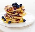 Two Good Bluberry Pancakes with Maple Butter