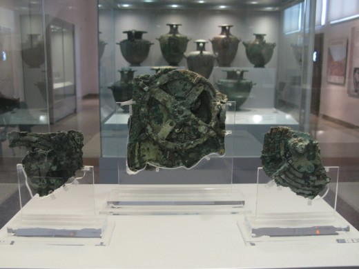 The Remnants of the Antikythera Mechanism are Displayed at the National Archaeological Museum in Athens, Greece