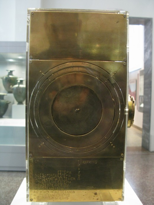 Front View of Re-Constructed Antikythera Mechanism