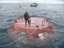 A buoy to generate wave power in Hawaii