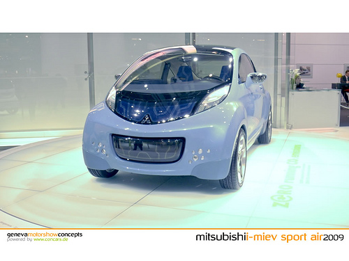 As clean energy partners, Mitsubishi selected Hawaii to be the first state to receive the companies 100% electric car called the i-Miev.