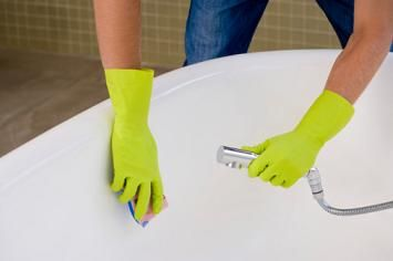 You can use the hand shower to spray water and clean thoroughly