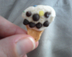 Now I think that is the smallest ice-cream cone I have ever seen?