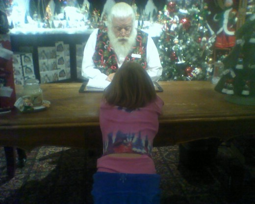 "Father Christmas writing my daughter's name on the ""Good"" list"