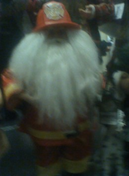 A firefighter's Father Christmas