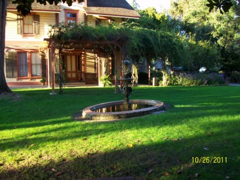 Shinn Park in Fremont California water feature