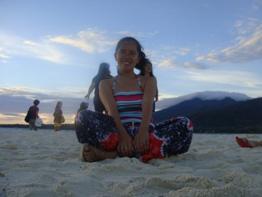 This is my photo taken at White Island, the mountain at the back is Camiguin Island. This island vanishes when the tide goes high.