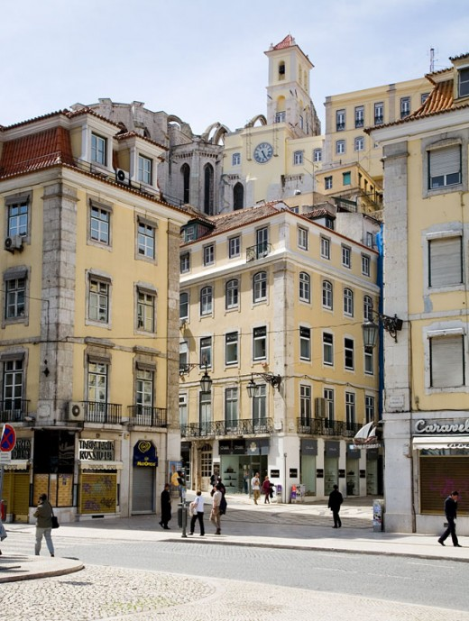 The downtown Baixa district of Lisbon