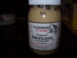Prepared horseradish is great for beef dishes