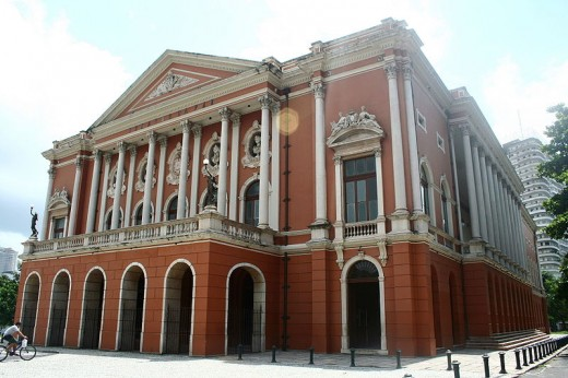 Teatro da Paz, Peace Theater, was inspired in the La Scala Theater in Milan, Italy. Teatro da Paz is one of the many examples of the golden era lived in Amazon river basin brought by rubber extraction.