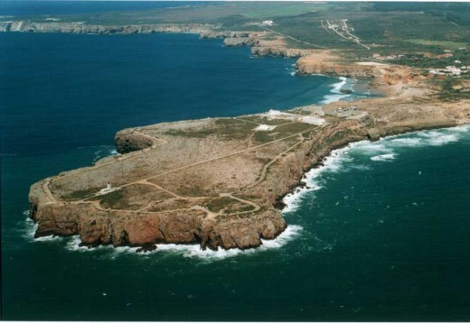 Sagres Headland from the air
