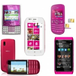 Collection of Nokia Pink Color Mobile Phones