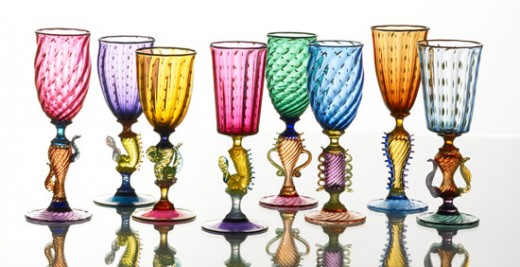 Tutti Frutti goblets by Robert Dane
