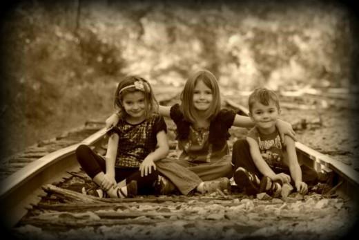 My three kids, the lights of my life!
