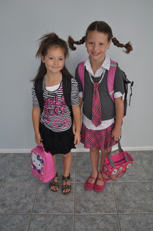 When schedules go astray - be aware - your kids might walk out of the door looking crazy!