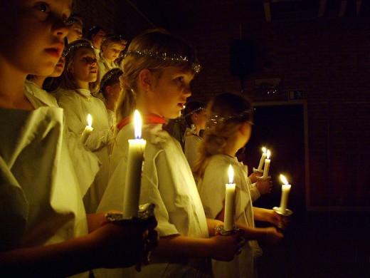 Santa Lucia Procession, Sweden