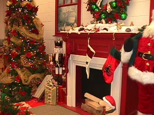 Santa answered how he gets into the Family Room, even when there is no chimney.