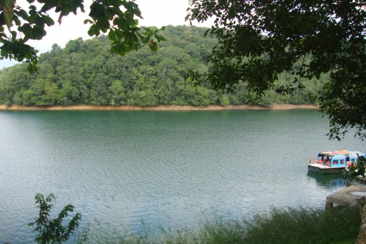 on the way-dam reservoir