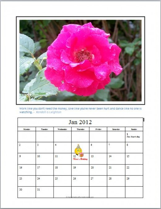 - Photo Calendar, photo by Rosie2010 -