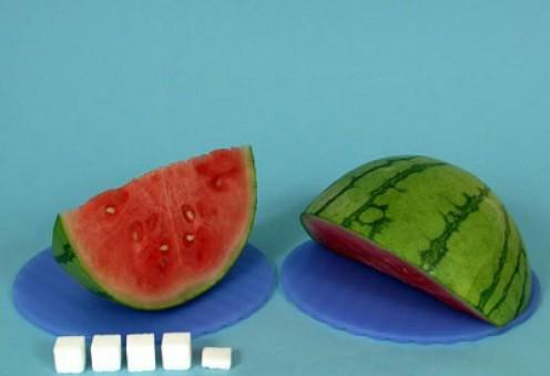 1 slice watermelon = 18g sugar