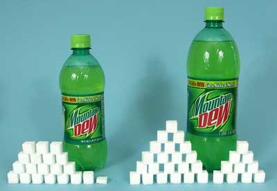 20 oz. Mountain Dew = 77g sugar