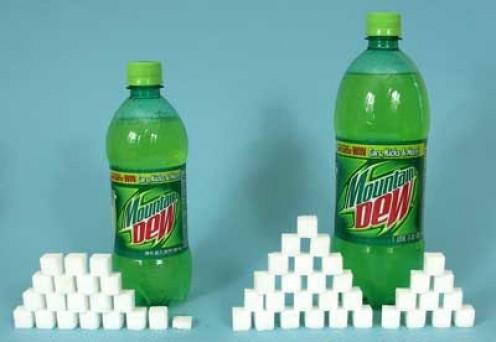 20 oz. Mt. Dew = 77g sugar