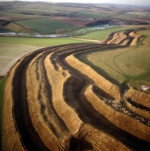 The complex of banks and ditches that surround the hillfort are the end result of many centuries of modification and enlargement during the Iron Age.
