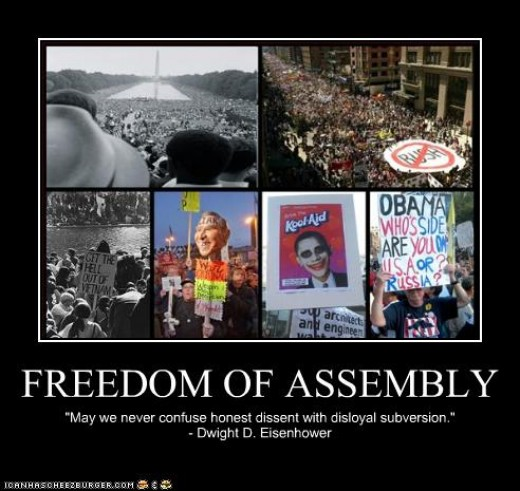 Freedom of Assembly is an Inherent Right and not something that can be taken away by the Government without consequence.