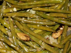 Delicious Fresh Green Bean Casserole with Roasted Garlic, Shallots and Mushrooms