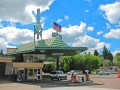 Visit Frank Lloyd Wright's Gas Station, Beverly Hills Shop,  & Rental Cabin