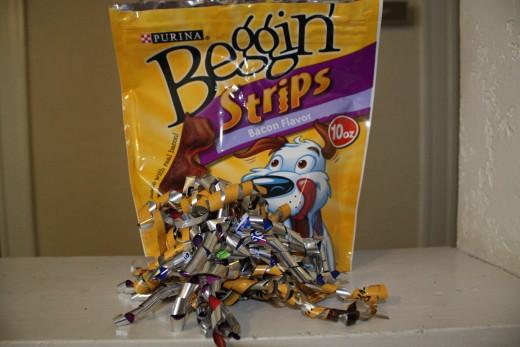 Doggie treat bag to holiday ribbon!