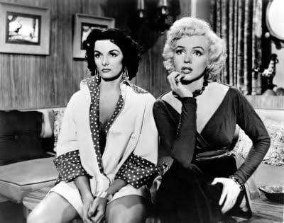 """""""Gentlemen Prefer Blondes"""" also starred Jane Russell."""