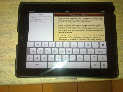 Ipad2 typing up this hub