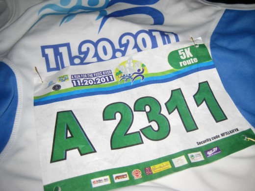 My race number (All photos by Travel Man)