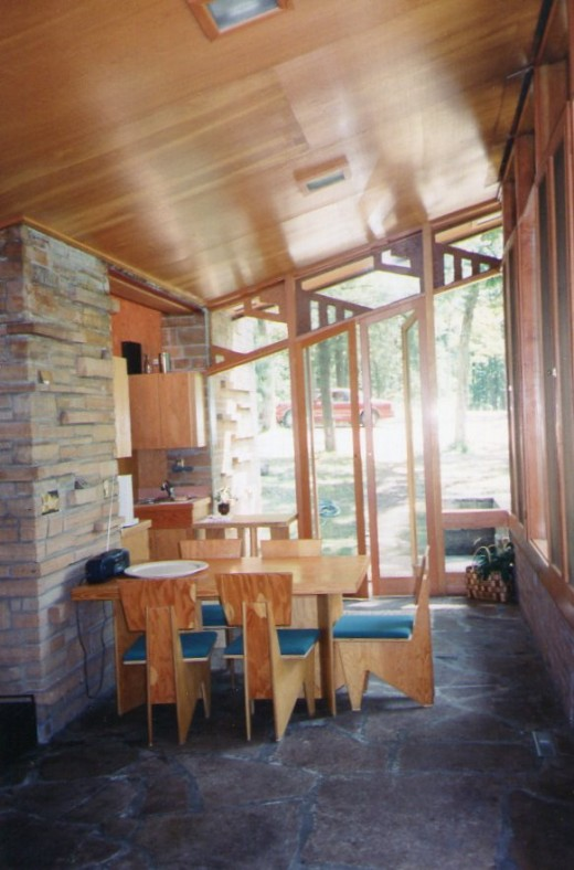 Entrance, kitchen, and eating area - Seth Peterson Cottage