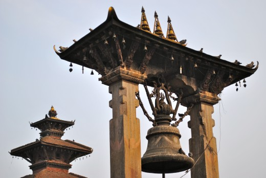 Bell tower in Patan, one of the three royal cities in the Kathmandu Valley.