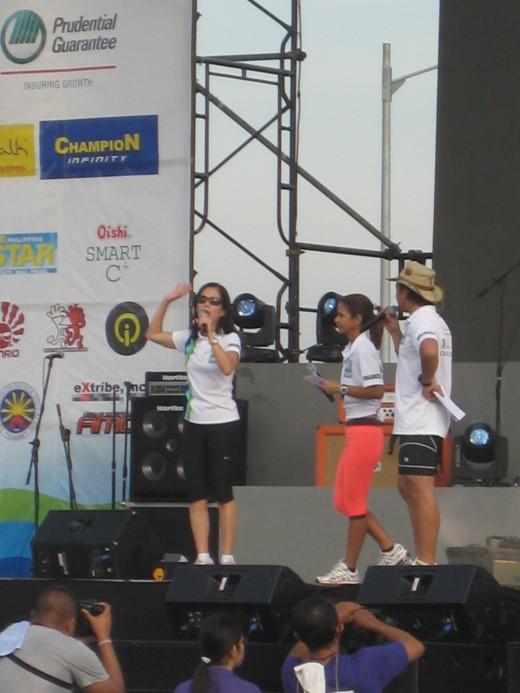Hosts Kuya Kim Atienza & Dyan Castillejo with Ms. Gina Lopez of ABS-CBN Foundation, Inc.