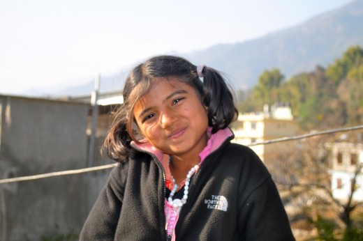 Amrit, one of the girls in the orphanage.