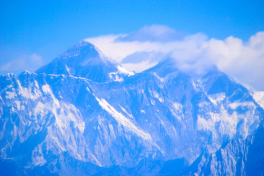 Mt Everest (the furthest peak).